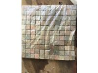 New in packs mosaic wall tiles. Natural slate stone