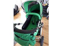 Green buggy/pram