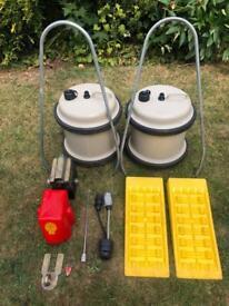 Job lot caravan accessories bundle camping trailer bulldog security aquarol fiamma