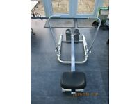PUCH TUNTURI ROWING MACHINE WITH DUAL PISTON HYDRAULIC ACTION IN VERY GOOD CONDITION
