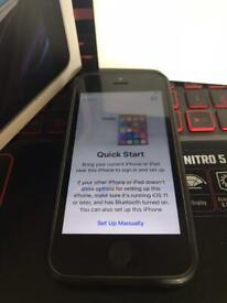 iPhone 5se 32gb unlocked works but bit of screen don't still use it