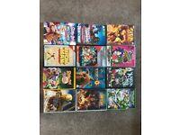 KIDS DVDs Cartoon themed scooby doo, Iron Man etc