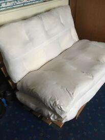 Fouton - (sofa / bed) double, cream fabric