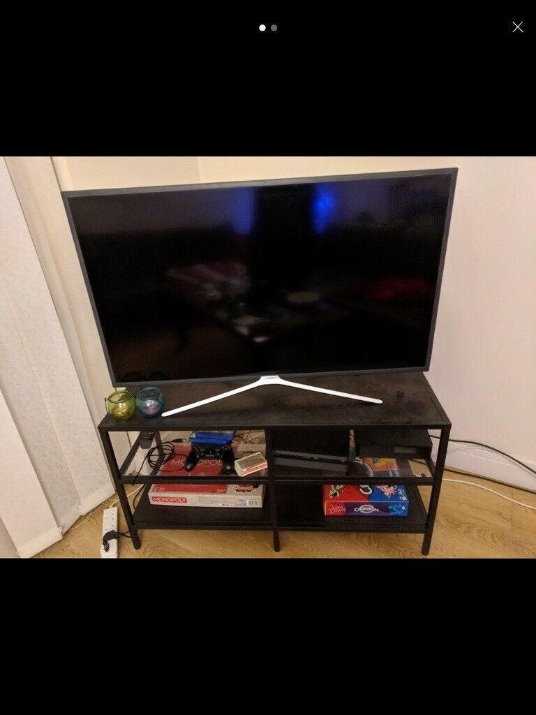Black Tv Stand With Glass Shelves In Haringey London