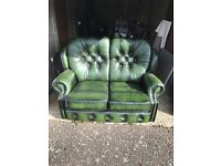 Matching Green sofa and reclining chair in as new condition.