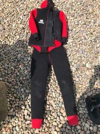 Heavy duty 2 piece wet suit
