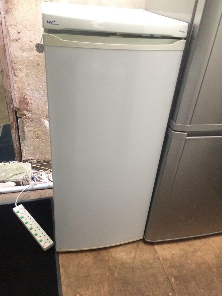 White LEC refrigerators H 150cm W 55cm good condition with guarantee bargain