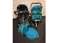 QUINNY pushchair,car seat in good condition