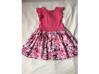 GIRLS PINK BUTTERFLY SUMMER DRESS AGE