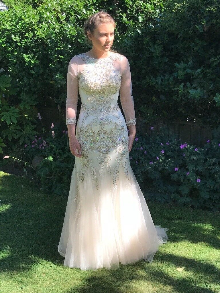 Amazing Angel Forever Prom Dress Champagne Gold Size Xs In