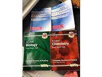 Alevel CGP AQA Bio and Chem books