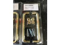IKEA Bagganas door handles Brass/gold - brand new