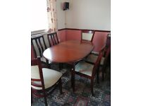 Extending table with 6 chairs
