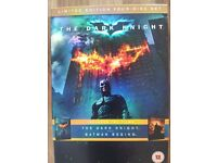 Batman Begins & The Dark Knight limited edition 4 disc box set. Exc condition.