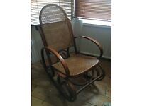 Bentwood Rocking Chair with rattan seat