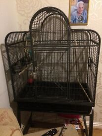 Large parrot cage on wheels immaculate