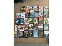 34 job lot DVDs, variety of genres