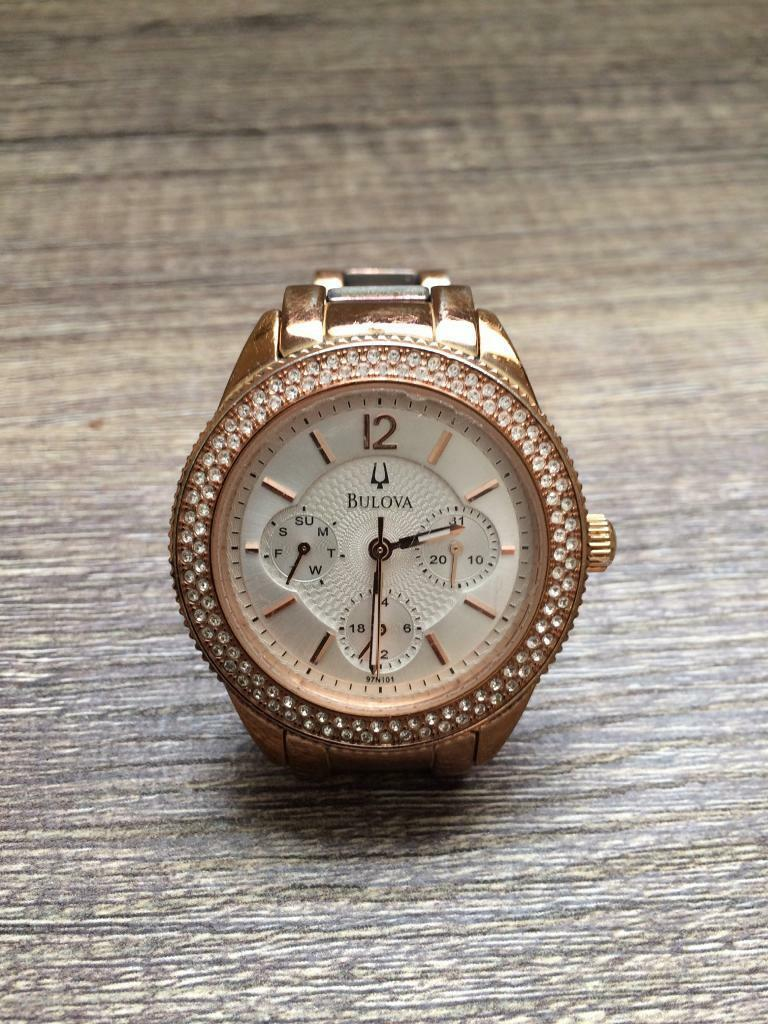 Bulova ladies watchin Darlington, County DurhamGumtree - Beautiful rose gold bulova ladies watch. New they are £340, 2nd hand they sell at £160 in jewellers. Unfortunately I dont have the box it came in