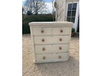 Painted cream pine chest of drawers FREE