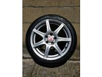 """Genuine Honda Civic Type R 18"""" FN2 Alloy Wheel with 6mm Tyre"""