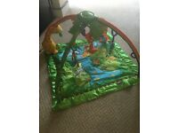 Fisher Price Rainforest Melodies and Lights Deluxe Play Mat - immaculate