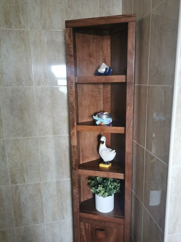Wooden bathroom tall cabinet | in Sunderland, Tyne and ...