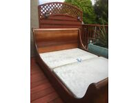 Walnut king size bed