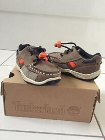 Timberland toddler size 3.5 trainer shoes boxed