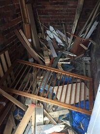 Loads of scrap wood - dry kept in woodshed