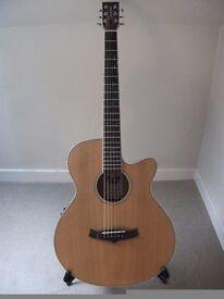 Tanglewood TSF CEN Super Folk electro acoustic guitar.