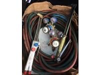 Saffire nm250 gas cutter with two regulators and long hoses also has another torch with a it too