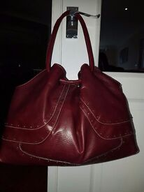 Nine West Ox Blood leather handbag