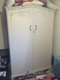 Vintage shabby chic upcycled antique style Wardrobe