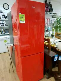 Refurbished red Swan fridge Freezer with 6 month warranty