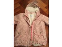 Girls Pretty Fur Lined Jacket Age 5