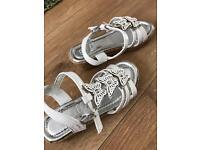 Girls wedged sandals