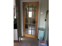 6 wooden glass doors 78x33inch £25 per door