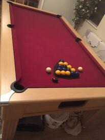 Pool table full size slate bed
