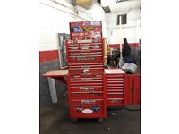 Snap on tool box including tools
