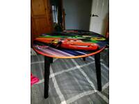 Children's lightening McQueen table and chair