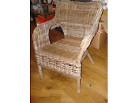 GARDEN CHAIR WITH ARMS - WICKER/ RATTAN WEAVE