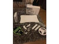 Wii console, with accessories and games