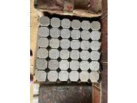 Granite mosaic white black tiles 45x45mm