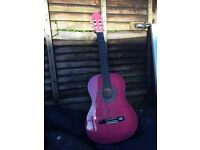 Pink Valencia Acoustic Guitar