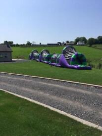 Airque2017 Airquee Assault course bouncy castles for sale.