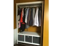 IKEA Hemnes open wardrobe in - white solid wood