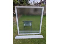 Used White Frosted Double Glazed Window (Anglian Windows)
