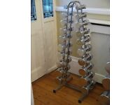 Marcy Chrome Dumbbell Set with Stand