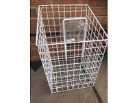 Laundry basket for inside a wardrobe fixings included so it tilts forward from new Hammonds wardrobe