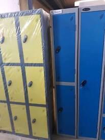 New ex warehouse Probe clothes locker 2 door in blue